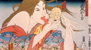 31 Flavors Invading Japan Series Today's Special, 1982, 35-color woodblock print with hand-watercolor, Edition of 500
